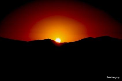 Sunrise in Erfoud, Morocco